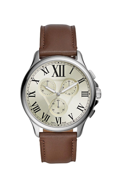 Fossil Men's Monty Chronograph Brown Leather Watch FS5638 product image