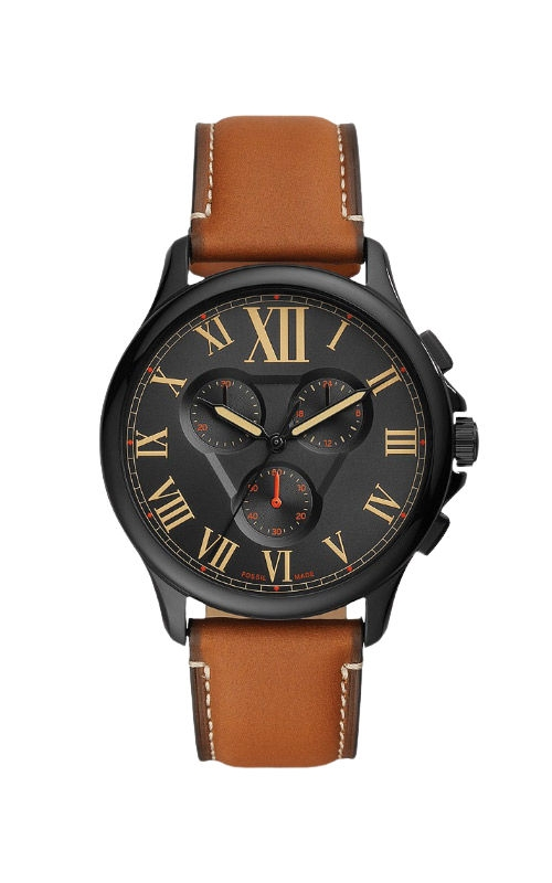 Fossil Men's Monty Chronograph Brown Leather Watch FS5639 product image