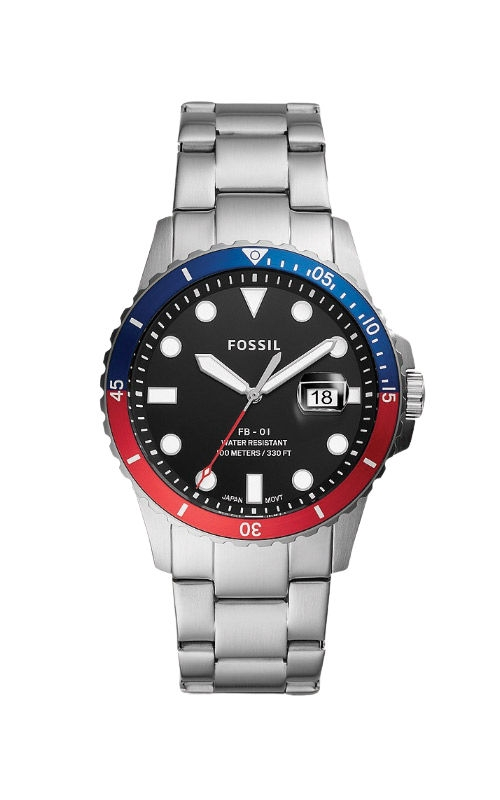 Fossil Men's FB 01 Three Hand Date Stainless Steel Watch FS5657 product image