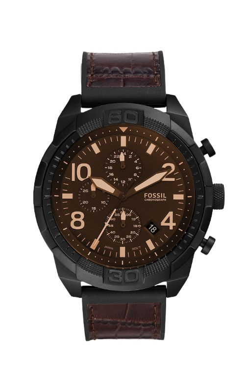 Fossil Men's Bronson Chronograph Brown Croco Leather Watch FS5713 product image