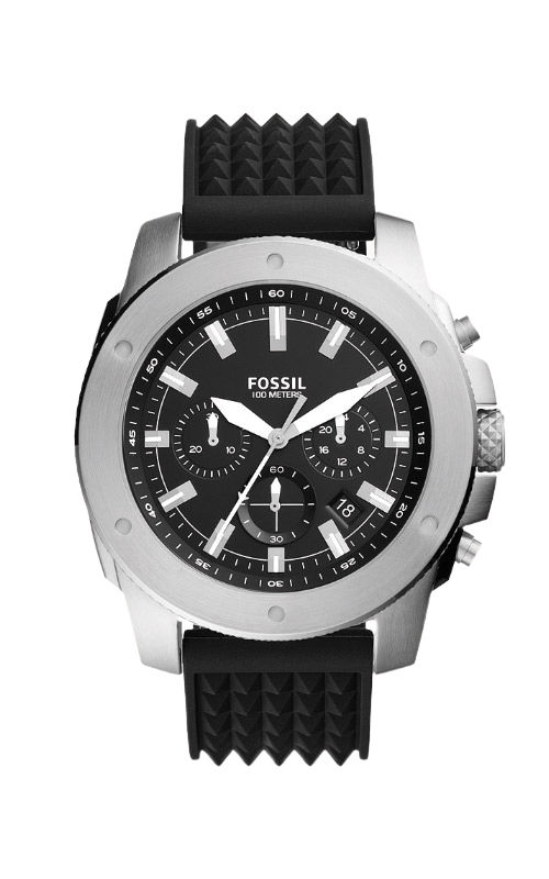 Fossil Men's Mega Machine Chronograph Black Silicone Watch FS5715 product image
