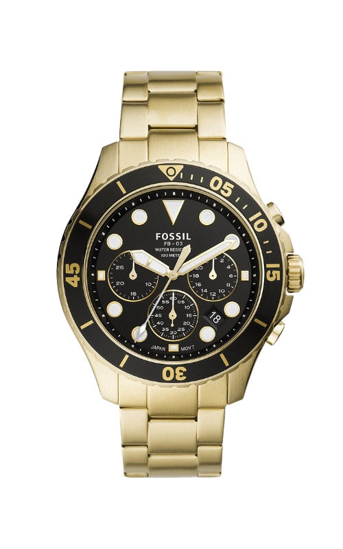 Fossil Men's FB 03 Chronograph Gold Tone Stainless Steel Watch FS5727 product image