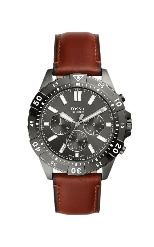 Fossil Men's Garrett Chronograph Brown Leather Watch FS5770 product image