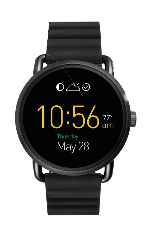 Fossil Ladies Smartwatch Wander Black Silicone FTW2103 product image