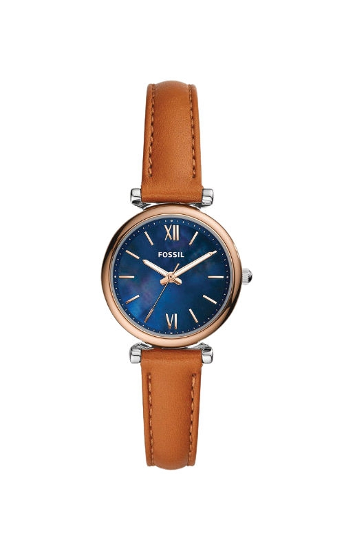 Fossil Ladies Carlie Mini Three Hand Tan Leather Watch ES4701 product image