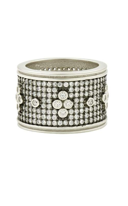 FREIDA ROTHMAN Signature Pave Clover Wide Ring Size 8 PRZR090194B-8 product image