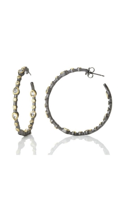 FREIDA ROTHMAN Signature Teardrop Bezel Hoop Earrings YRZE020020B-1-14 product image
