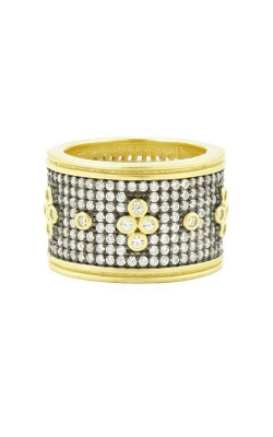 FREIDA ROTHMAN Signature Pave Clover Wide Ring Size 8 YRZR090194B-8 product image