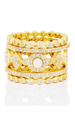 FREIDA ROTHMAN Signature 5 Stack Ring Size 6 YZR090064B-MOP-6 product image