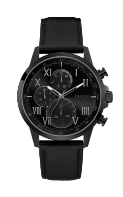 Guess Men's Black-Tone And Black Leather Chronographic Watch GW0011G2 product image