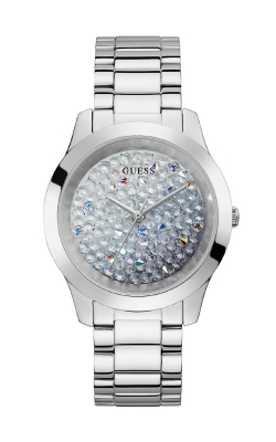 Guess Silver-Tone Ombre Crystal Analog Watch GW0020L1 product image