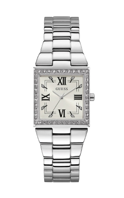 Guess Ladies Silver-Tone Square Analog Watch GW0026L1 product image