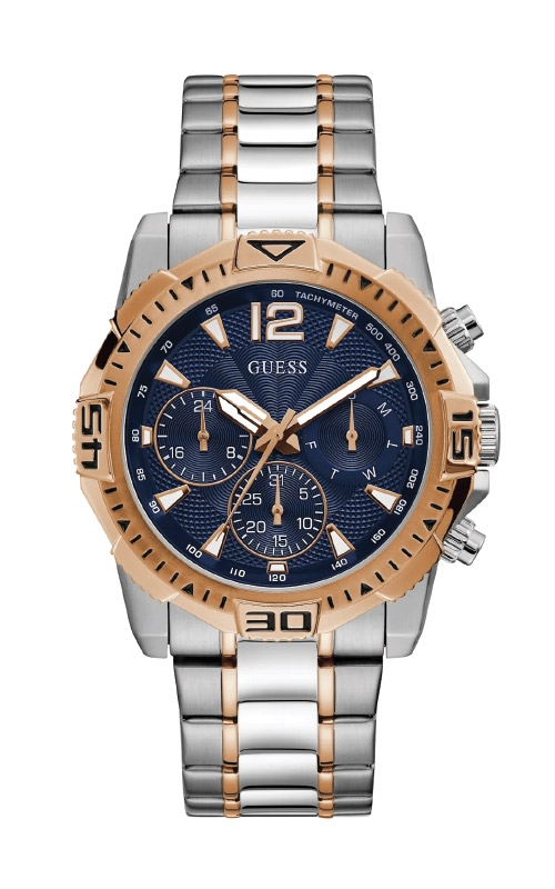 Guess Men's Two Tone Silver Rose Gold Watch GW0056G5 product image