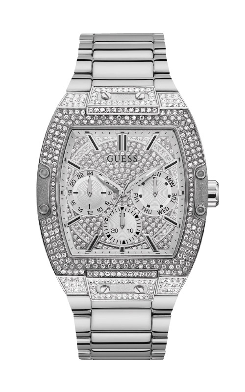Guess Men's Silver Tone Multifunction Watch GW0094G1 product image