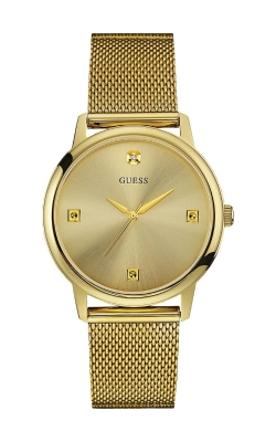 Guess Men's Gold Tone Mesh Watch U0280G3 product image