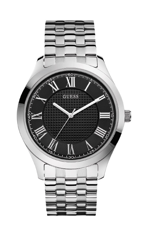 Guess Men's Stainless Steel Black Dial Watch U0476G1 product image