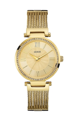 Guess Gold-Tone Modern Woven Watch U0638L2 product image