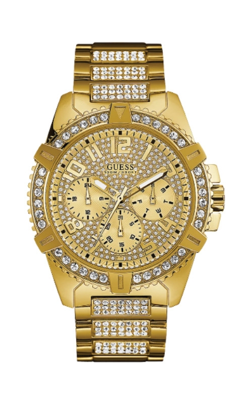 Guess Gold Tone Stainless Steel Glitz Watch U0799G2 product image