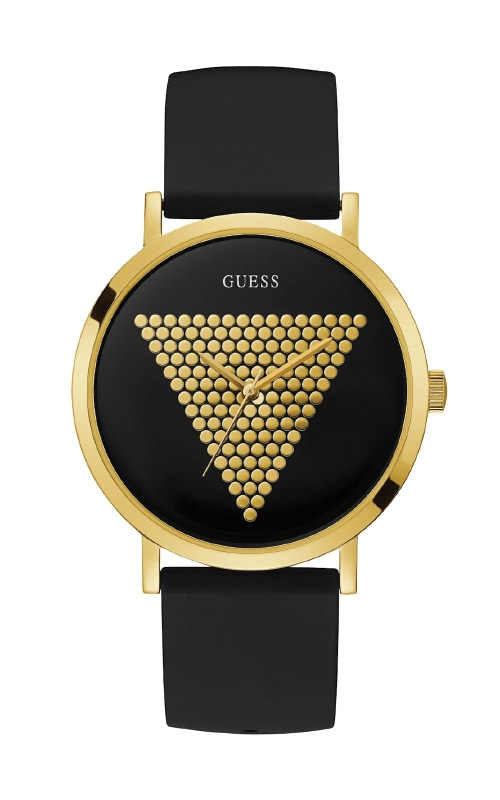Guess Men's Black and Gold Tone Analog Watch U1161G1 product image
