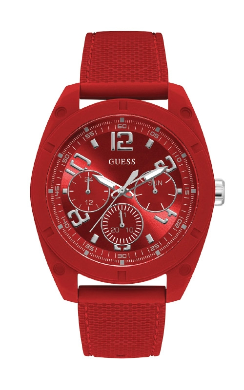 Guess Men's Red and Silver Tone Multifunction Watch U1256G4 product image
