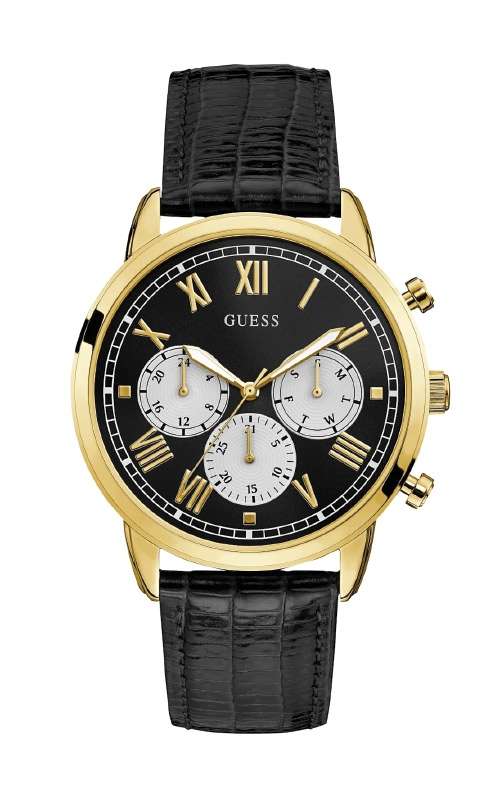 Guess Men's Black and Gold Tone Chronograph Watch U1261G3 product image