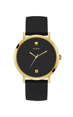 Guess Gold Tone Black Silicone Watch U1264G1 product image
