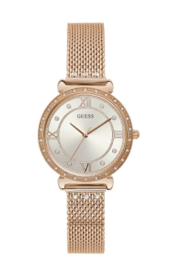 Guess Rose Gold-Tone Mesh And Crystal Analog Watch U1289L3 product image