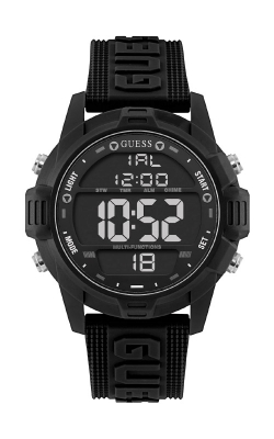 Guess Men's Oversized Black Silicone Analog And Digital Watch U1299G1 product image