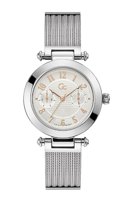 Guess Ladies Gc PrimeChic Silver Mesh Watch Y48001L1MF product image