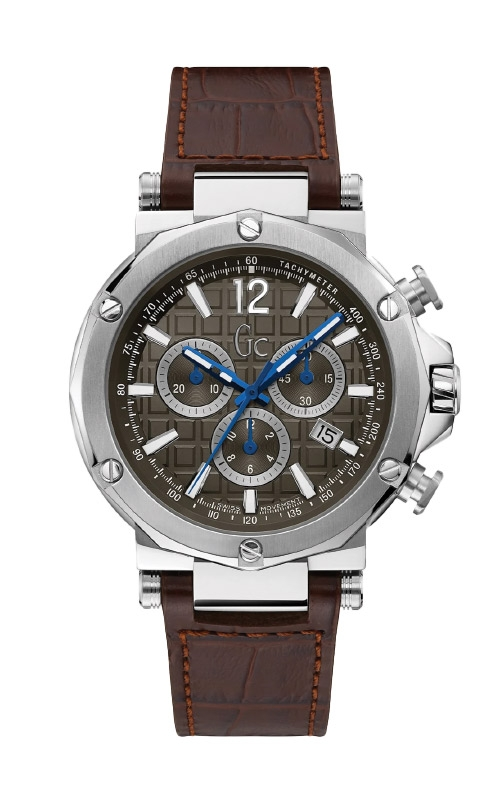Guess Men's Gc Brown and Silver Tone Chronograph Watch Y53004G1MF product image