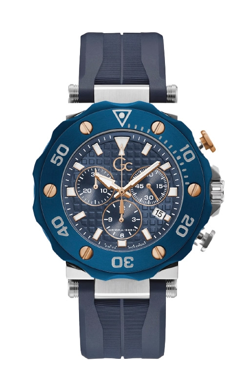 Guess Men's GC Divercode Chrono Blue Two Tone Watch Y63006G7MF product image