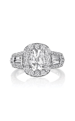 Henri Daussi 18k White Gold 1.01ct Cushion Engagement Ring ACBG product image