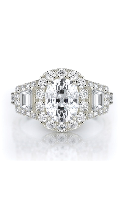 Henri Daussi Collection Daussi Cushion Engagement ring ACMT product image