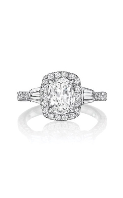 Henri Daussi 18k White Gold .55ct Cushion Engagement Ring AKBN product image