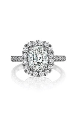 Henri Daussi 18k White Gold .90 Cushion Engagement Ring AMDM product image