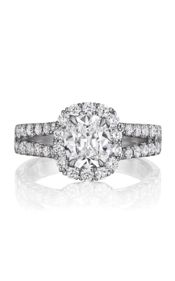 Henri Daussi 1.06 Cushion Engagement Ring AU product image