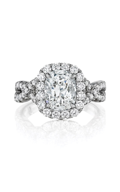 Henri Daussi Collection Daussi Cushion Engagement ring AW product image