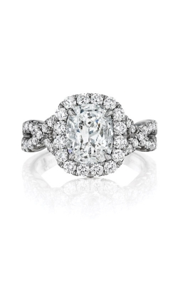 Henri Daussi 18k White Gold 2.04ct Cushion Engagement Ring AW product image