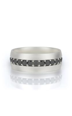 Henri Daussi 14k White Gold 1.15ctw Black Diamond Wedding Band MB13 product image