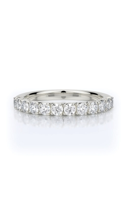 Henri Daussi 14k White Gold .65ctw Pave Wedding Band R7H product image