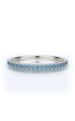 Henri Daussi 14k White Gold .15ctw Blue Diamond Wedding Band R1-10H product image