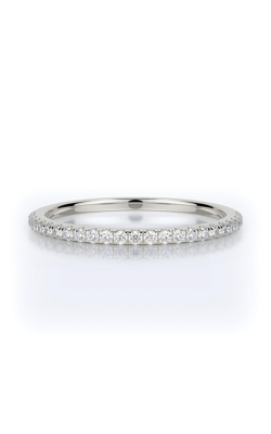 Henri Daussi 18k White Gold .15ctw Pave Wedding Band R1-1H product image