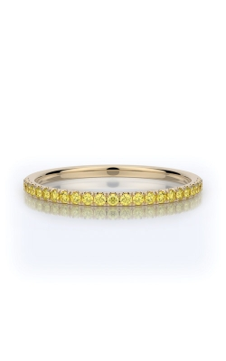 Henri Daussi 18k Yellow Gold .15ct Fancy Yellow Diamond Wedding Band R1-3H product image
