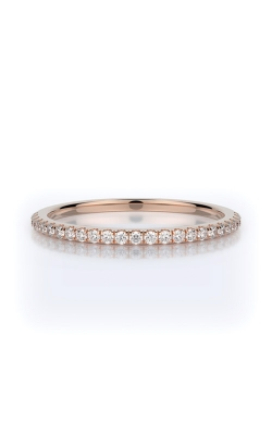 Henri Daussi 18k Rose Gold .15ct Pave Wedding Band R1-7H product image