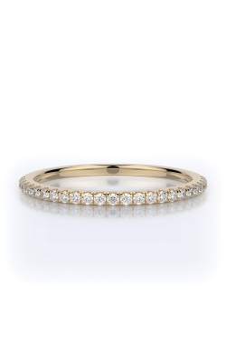 Henri Daussi 18k Yellow Gold .15ct Pave Wedding Band R1-8H product image