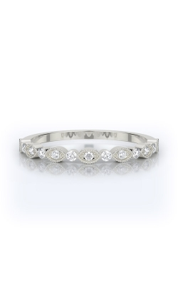 Henri Daussi 18k White Gold .20ct Pave Wedding Band R26-1H product image