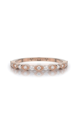 Henri Daussi 18k Rose Gold .17ctw Diamond Wedding Band R26-2H product image