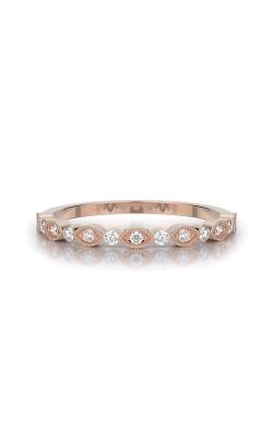 Henri Daussi 14k Rose Gold .16ctw Diamond Wedding Band R26-2H product image