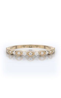 Henri Daussi 18k Yellow Gold .20ctw Pave Wedding Band R26-3H product image