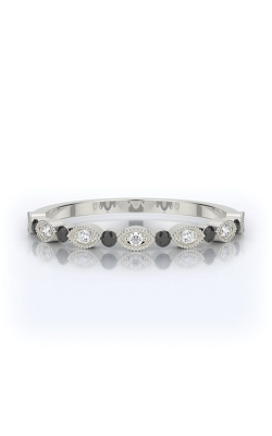 Henri Daussi 14k .12ctw Black Diamond Wedding Band R26-4H product image